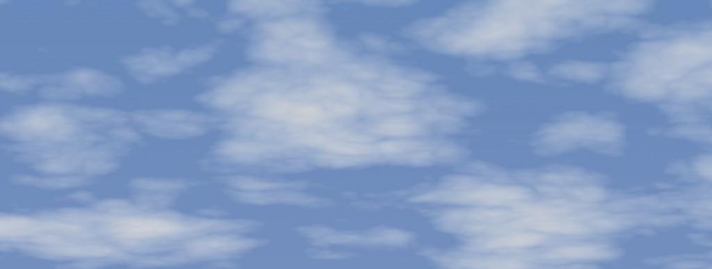 Blå himmel en molnig dag har en färgtemperatur på cirka 5500 Kelvin